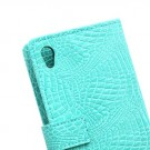 Lommebok Etui for Sony Xperia Z3+ Croco Mint thumbnail