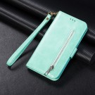 "iPhone 11 6,1"" Lommebok Etui Zipper Turkis thumbnail"