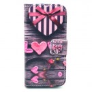 iPhone 5/5s/SE Etui m/kortlommer Art - Love thumbnail