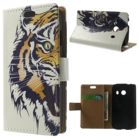 Etui for Galaxy Ace Style Lommebok Tiger