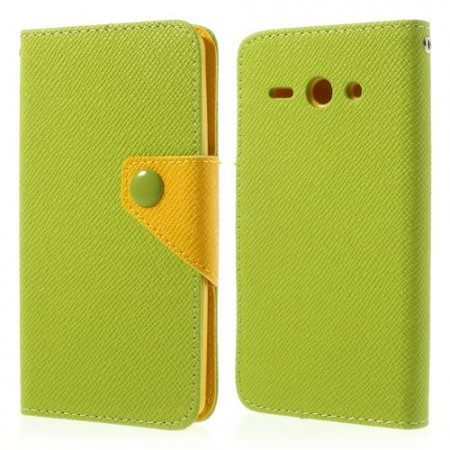 Etui Lommebok for Huawei Ascend Y530 Lime/Gul