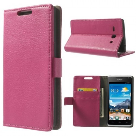 Etui Lommebok for Huawei Ascend Y530 Classic Rosa