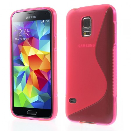 Deksel for Samsung Galaxy S5 Mini S-line Rosa