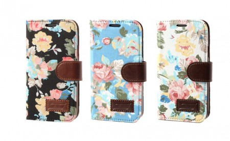 Lommebok Etui for Samsung Galaxy S5 Mini Rose