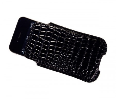 Etui for iPhone 4/4S Croco Svart