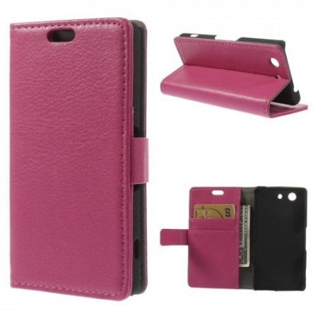 Lommebok Etui for Sony Xperia Z3 Compact Rosa