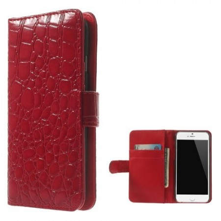 Etui for iPhone 6 Croco m/kortlommer