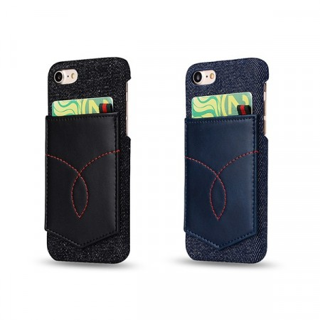iPhone 7 Pluss / iPhone 8 Pluss Deksel Denim Pocket