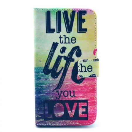Etui for Samsung Galaxy S5 Lommebok Live Love