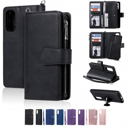 Galaxy S20+ (Pluss) 2i1 Lommebok Etui Zipper