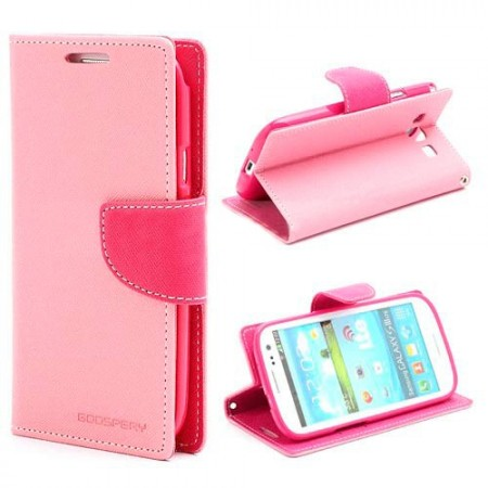 Lommebok for Samsung Galaxy S3 Mercury Lys Rosa