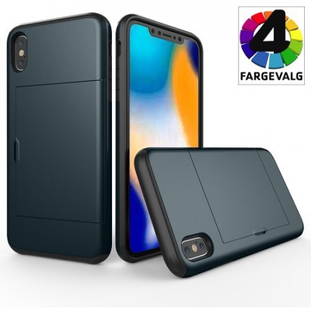iPhone Xs Max PocketCase Deksel m/kortlomme