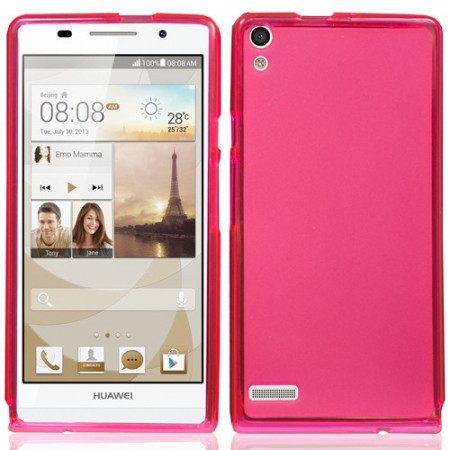 Mykplast Deksel for Huawei Ascend P6 Rosa