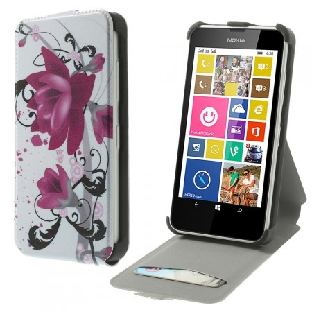 Etui for Lumia 630 Flipp Blomster 2