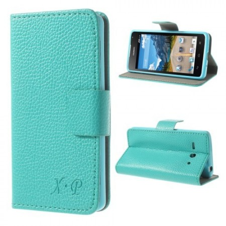 Etui Lommebok for Huawei Ascend Y530 Lychee Turkis