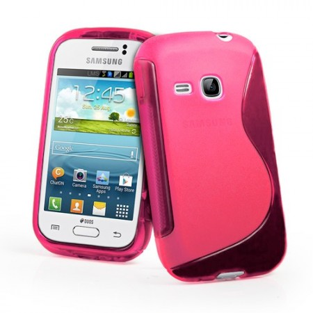 S-line Deksel for Galaxy Young (S6310) Rosa