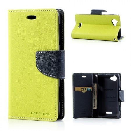 Lommebok Etui for Sony Xperia L Mercury Lime