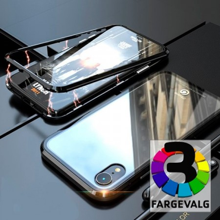 iPhone XR 6,1 Magnetisk Deksel Metall Ramme