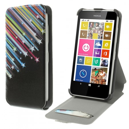Etui for Lumia 630 Flipp Stjerneskudd