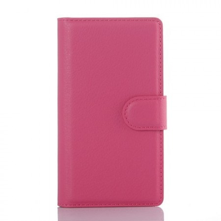 Lommebok Etui for Sony Xperia Z5 Compact Lychee Rosa