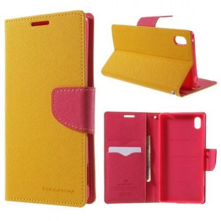 Lommebok Etui for Sony Xperia Z3+ Mercury Gul