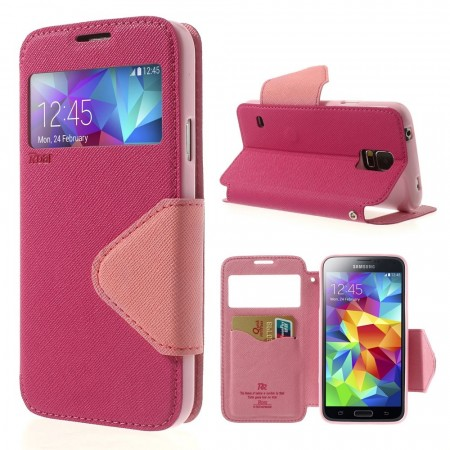 Slimbook Etui for Samsung Galaxy S5 Roar Rosa
