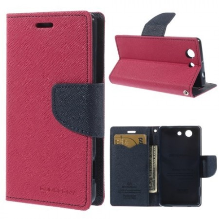 Lommebok Etui for Sony Xperia Z3 Compact  Mercury Mørk Rosa
