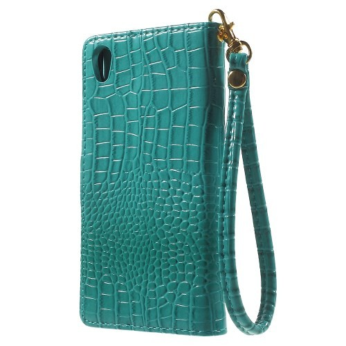 Lommebok Etui for Xperia Z5 Croco Turkis