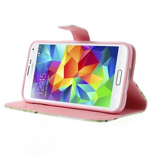 Lommebok Etui for Galaxy S5 Mini Ugle 4