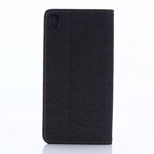 Etui for Sony Xperia X Performance Denim Pocket Svart
