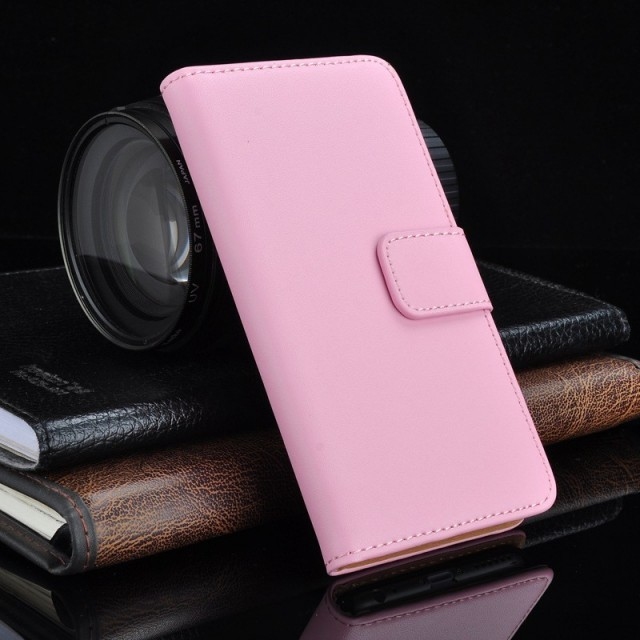 Lommebok Etui for Xperia Z3 Compact Genuine Lys Rosa