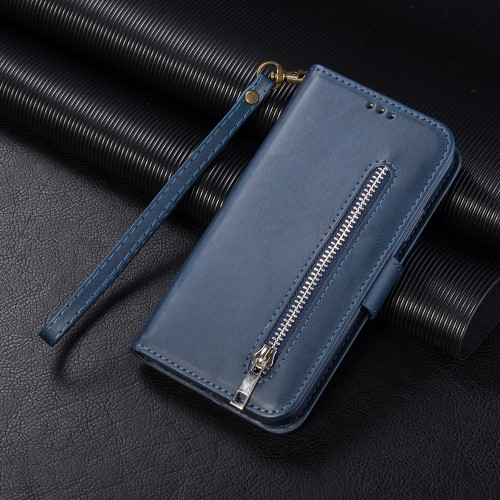 "iPhone 11 6,1"" Lommebok Etui Zipper Midnattsblå"