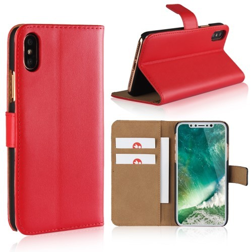 iPhone Xs/X 5,8 Etui m/kortlommer Genuine Rød