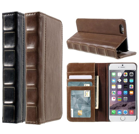 Bok Etui m/kortlommer for iPhone 6