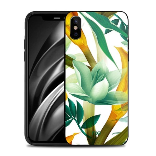 iPhone Xs/X 5,8 Deksel Flower Green