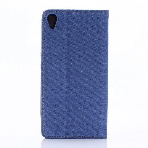 Etui for Sony Xperia X Performance Denim Pocket Lys Blå