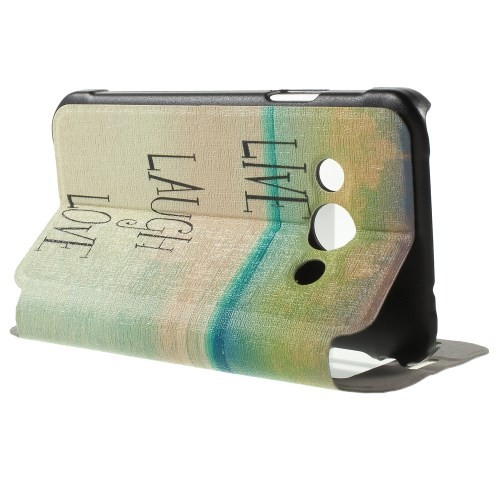 Slimbook Etui m/skjermvindu for Galaxy Xcover 3 Live Laugh Love