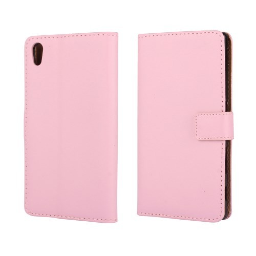 Lommebok Etui for Xperia Z5 Compact Genuine Lys Rosa