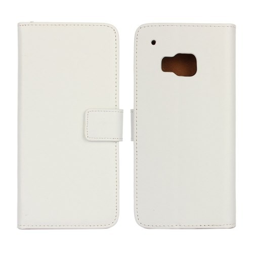 Lommebok Etui for HTC One M9 Genuine Hvit