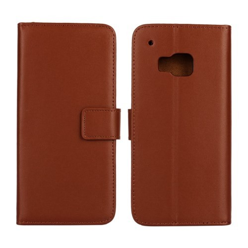 Lommebok Etui for HTC One M9 Genuine Brun
