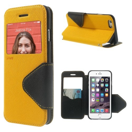 Etui for iPhone 6 Roar m/Skjermvindu Gul