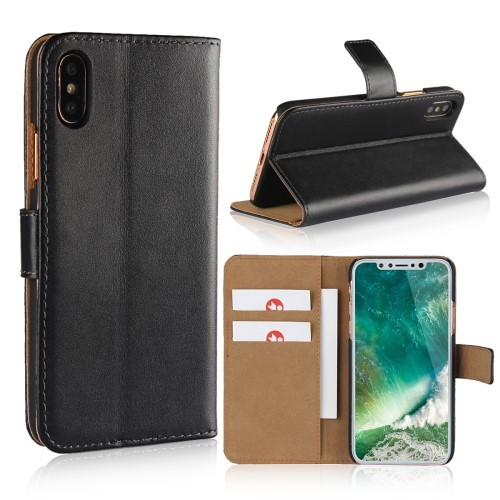iPhone Xs/X 5,8 Etui m/kortlommer Genuine Svart