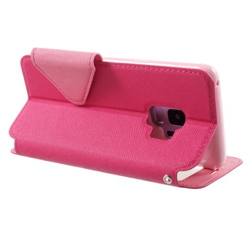 Slimbook Etui for Galaxy S9 Roar m/Skjermvindu Rosa