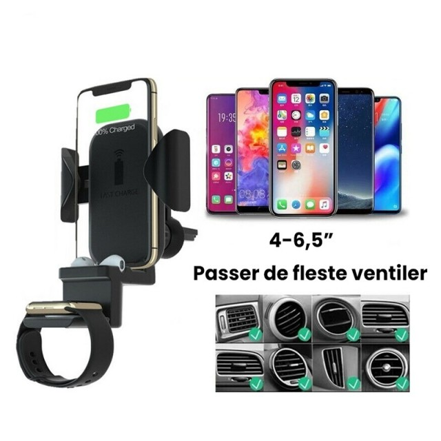 3i1 Trådløs Mobillader for iPhone/ AirPods/ Apple Watch