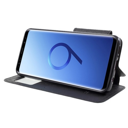 Slimbook Etui for Galaxy S9 Roar m/Skjermvindu Svart