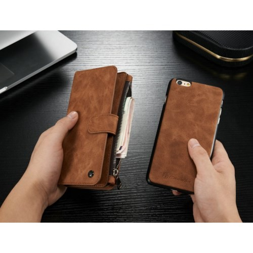 2i1 Etui m/kortlommer for iPhone 6/6s Retro Brun