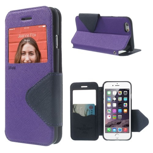 Etui for iPhone 6 Roar m/Skjermvindu Lilla