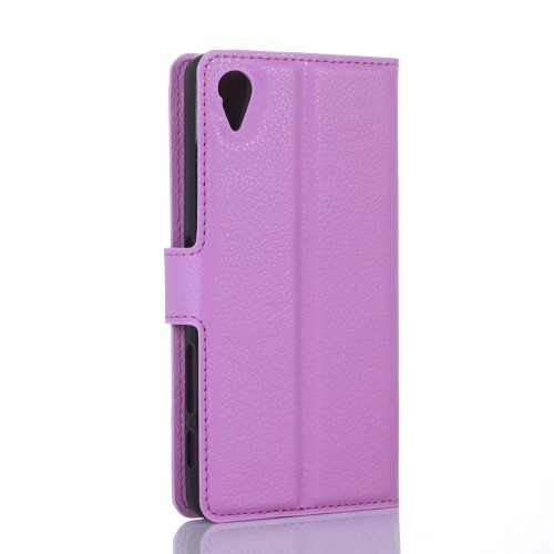 Lommebok Etui for Sony Xperia X Lychee Lilla