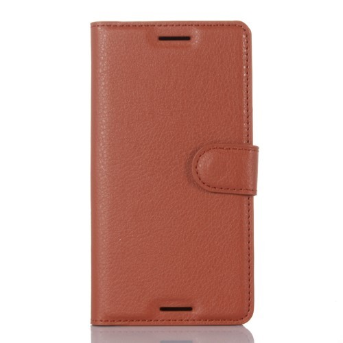 Lommebok Etui for Sony Xperia X Lychee Brun