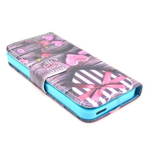 iPhone 5/5s/SE Etui m/kortlommer Art - Love